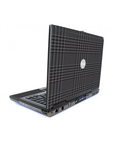 Black Plaid Dell D820 Laptop Skin