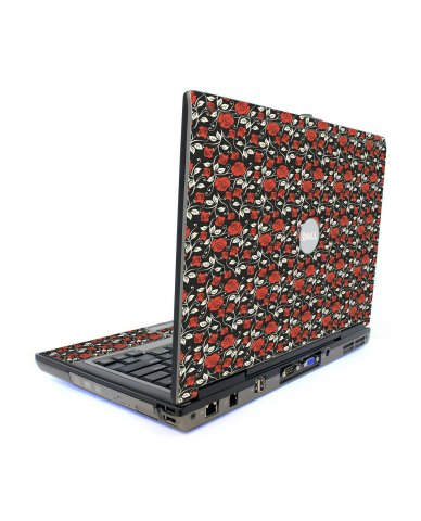Black Red Roses Dell D820 Laptop Skin