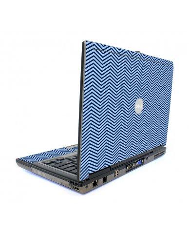 Blue On Blue Chevron Dell D820 Laptop Skin