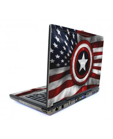 Capt America Flag Dell D820 Laptop Skin
