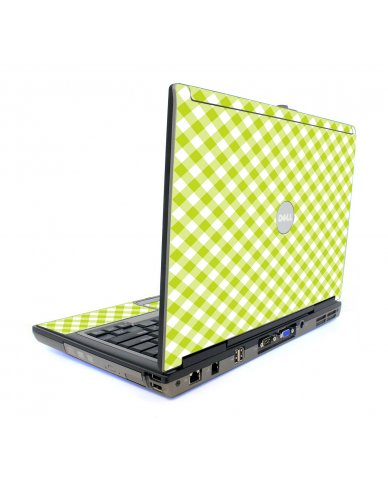 Green Checkered Dell D820 Laptop Skin