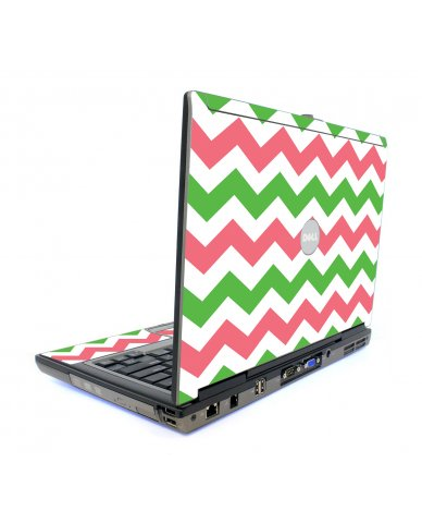 Green Pink Chevron Dell D820 Laptop Skin