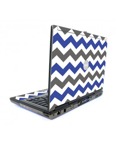 Grey Blue Chevron Dell D820 Laptop Skin