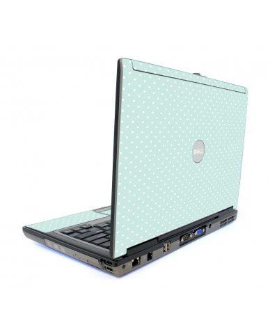 Light Blue Polka Dell D820 Laptop Skin