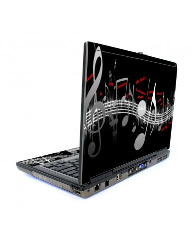 Music Notes Dell D820 Laptop Skin