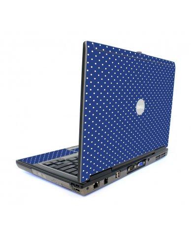 Navy Polka Dot Dell D820 Laptop Skin
