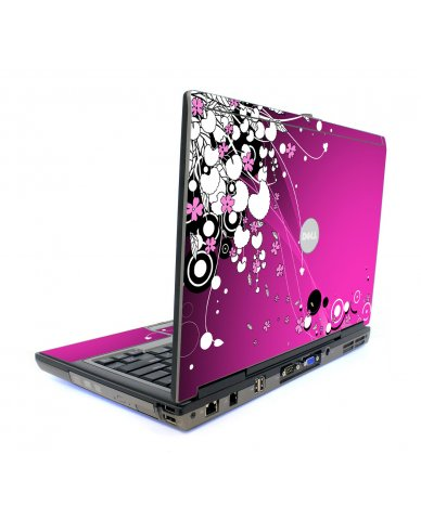 Pink Flowers Dell D820 Laptop Skin
