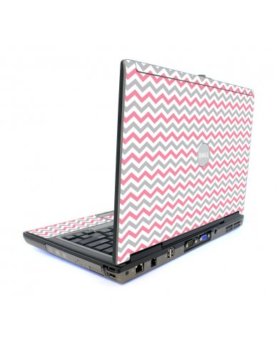Pink Grey Chevron Waves Dell D820 Laptop Skin