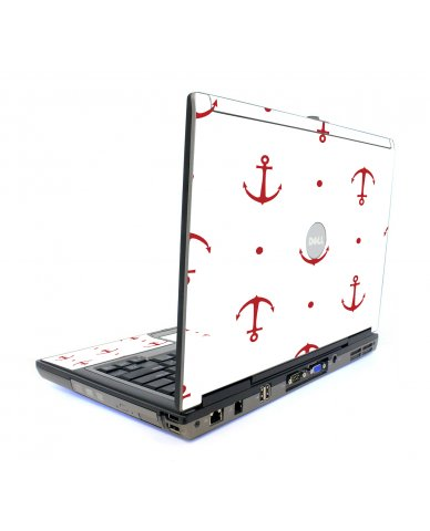 Red Anchors Dell D820 Laptop Skin
