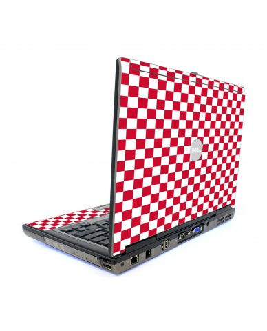 Red Checkered Dell D820 Laptop Skin