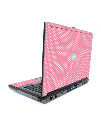 Retro Salmon Polka Dell D820 Laptop Skin