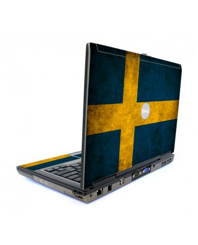 Swedish Flag Dell D820 Laptop Skin