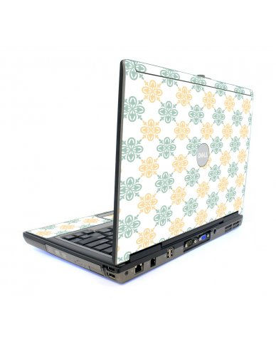 Yellow Green Flowers Dell D820 Laptop Skin