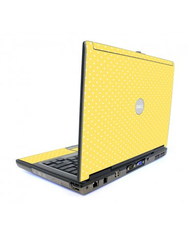 Yellow Polka Dot Dell D820 Laptop Skin