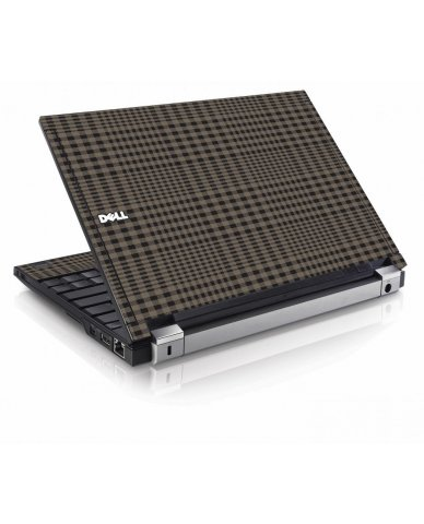 Beige Plaid Dell E4200 Laptop Skin