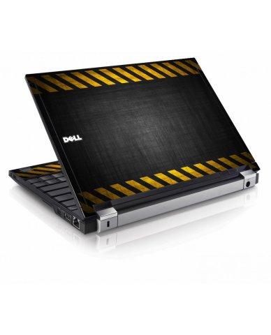 Black Caution Border Dell E4200 Laptop Skin