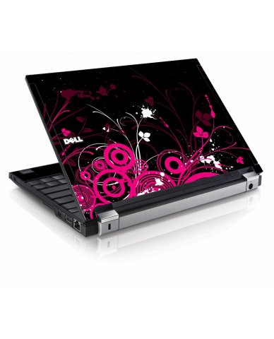 Black Pink Butterfly Dell E4200 Laptop Skin