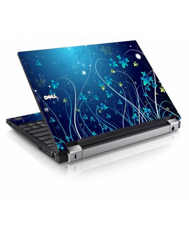 Blue Flowers Dell E4200 Laptop Skin