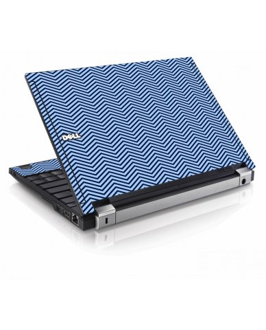 Blue On Blue Chevron Dell E4200 Laptop Skin
