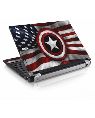 Capt America Flag Dell E4200 Laptop Skin