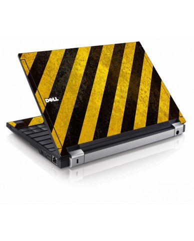 Caution Stripes Dell E4200 Laptop Skin