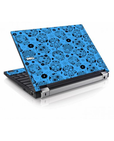 Crazy Blue Sugar Skulls Dell E4200 Laptop Skin