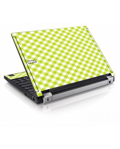 Green Checkered Dell E4200 Laptop Skin