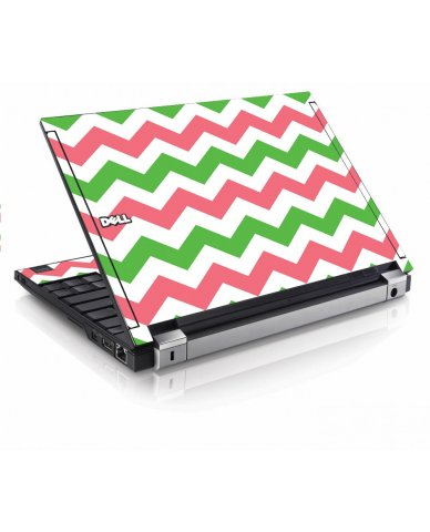 Green Pink Chevron Dell E4200 Laptop Skin
