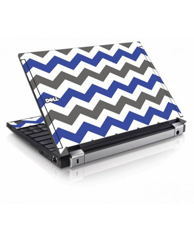 Grey Blue Chevron Dell E4200 Laptop Skin