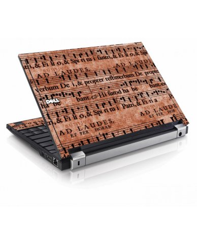 Latin Sheet Music Dell E4200 Laptop Skin