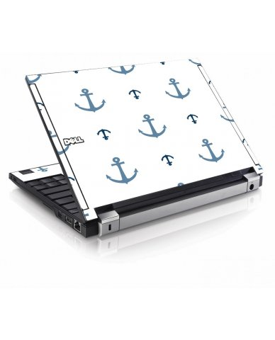 Multi Blue Anchors Dell E4200 Laptop Skin