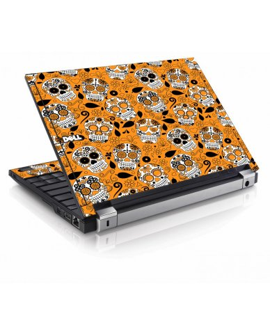 Orange Sugar Skulls Dell E4200 Laptop Skin