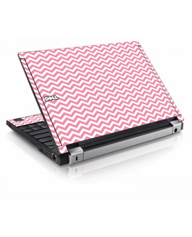 Pink Chevron Waves Dell E4200 Laptop Skin