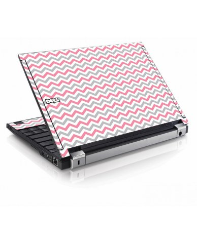 Pink Grey Chevron Waves Dell E4200 Laptop Skin