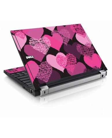 Pink Mosaic Hearts Dell E4200 Laptop Skin