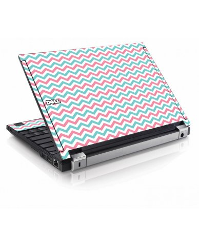 Pink Teal Chevron Waves Dell E4200 Laptop Skin