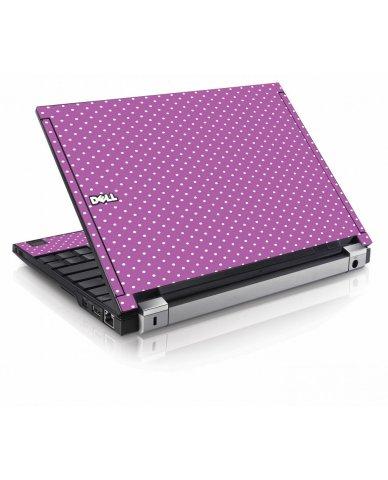 Purple Polka Dot Dell E4200 Laptop Skin