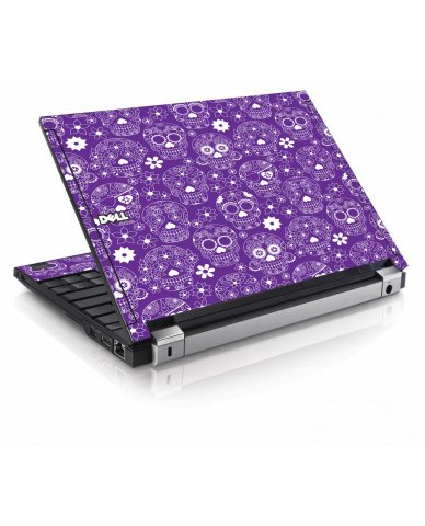 Purple Sugar Skulls Dell E4200 Laptop Skin