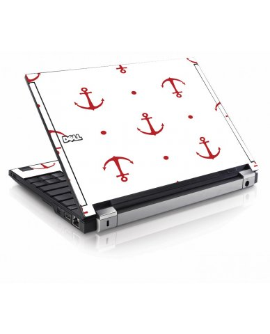 Red Anchors Dell E4200 Laptop Skin