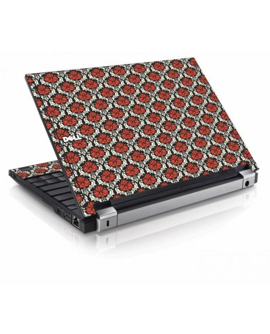 Red Black 5 Dell E4200 Laptop Skin