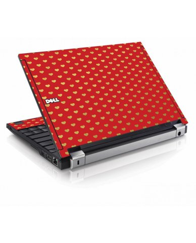 Red Gold Hearts Dell E4200 Laptop Skin