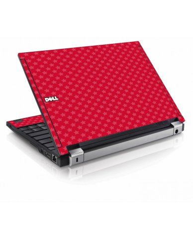 Red Pink Stars Dell E4200 Laptop Skin