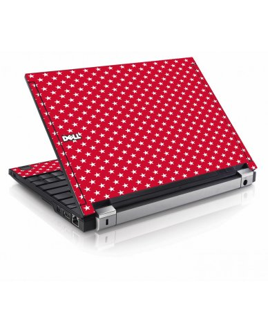Red White Stars Dell E4200 Laptop Skin