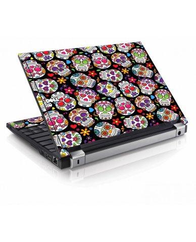 Sugar Skulls Black Flowers Dell E4300 Laptop Skin