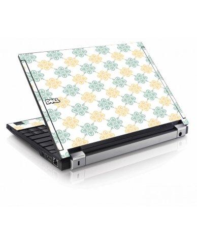Yellow Green Flowers Dell E4200 Laptop Skin