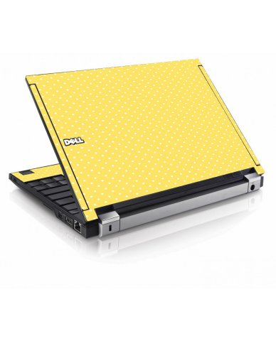 Yellow Polka Dot Dell E4200 Laptop Skin