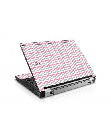 Pink Grey Chevron Waves Dell E4300 Laptop Skin