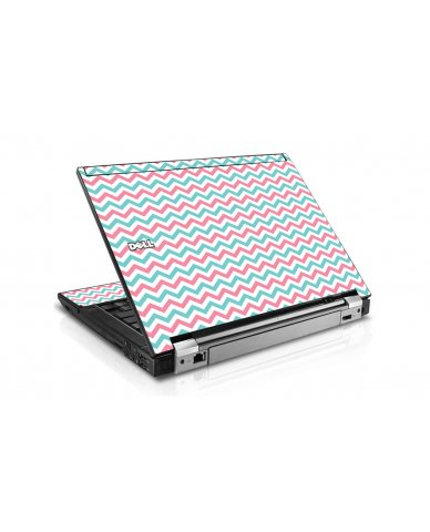 Pink Teal Chevron Waves Dell E4300 Laptop Skin