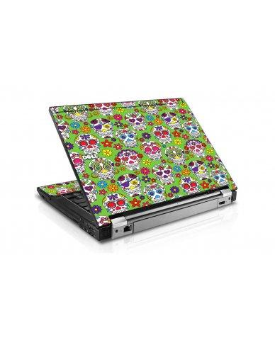 Green Sugar Skulls Dell E4310 Laptop Skin