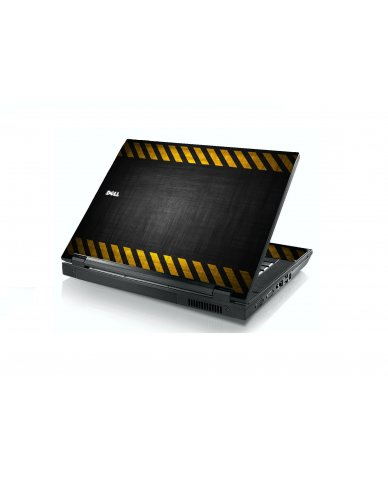 Black Caution Border Dell E5400 Laptop Skin